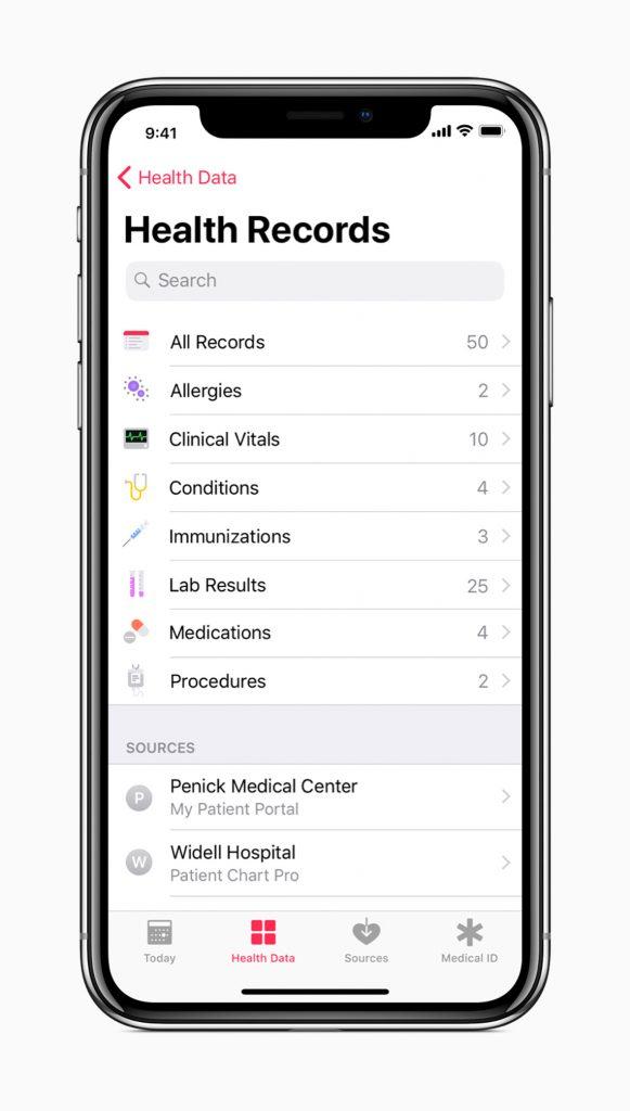 HOBI Apple iOS Health Records
